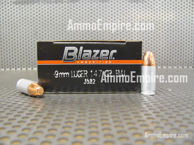 1000 Round Case of 9mm Luger CCI Blazer 147 Grain FMJ