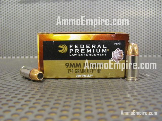 1000 Round Case of 9mm Luger Federal HST 124 Grain Hollow