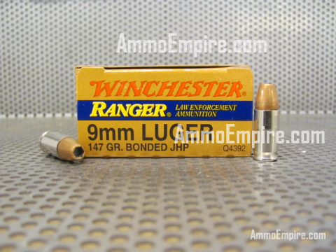 500 Round Case of 9mm Luger 147 Grain Bonded Hollow Point Winchester Ranger Ammo ZQ4392 For Sale With Free Shipping