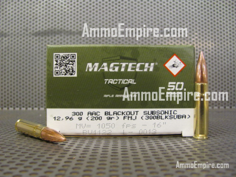 1000 Round Case of 300 AAC Blackout Subsonic 200 Grain FMJ Magtech Ammo For Sale With Free Shipping - 300BLKSUBA