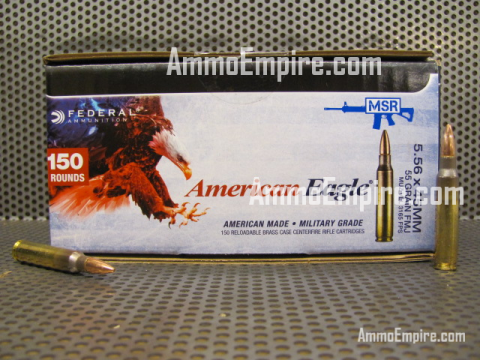 600 Round Case of 5.56mm 55 Grain XM193 Federal American Eagle Lake City Ammo - XM193BK150 with Free Shipping