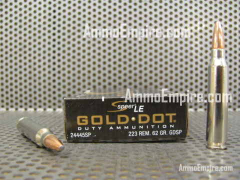 500 Round Case of 223 Rem 62 Grain Speer GDSP Gold Dot Soft Point Ammo - 24445SP - FREE SHIPPING