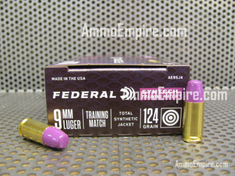 500 Round Case of 9mm Luger 124 Grain Total Synthetic Jacket Federal Syntech Training Match Ammo For Sale - AE9SJ4 - FREE SHIPPING