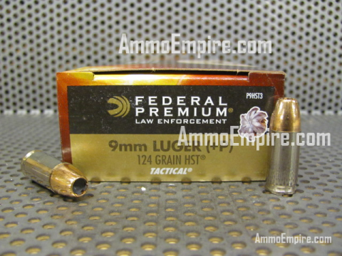 1000 Round Case of 9mm Luger +P Federal HST 124 Grain HP