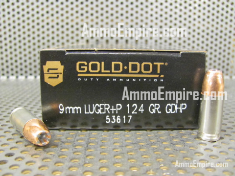 1000 Round Case of 9mm Luger +P Speer Gold Dot 124 Grain LE Hollow Point Ammo For Sale - 53617 - FREE SHIPPING