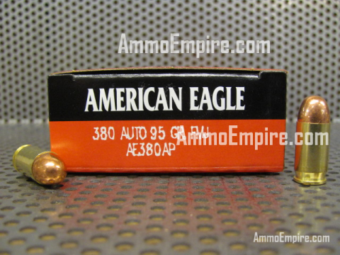 1000 Round Case of 380 ACP 95 Grain FMJ Federal American Eagle Ammo - AE380AP - FREE SHIPPING
