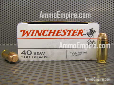 500 Round Case - 40 SW 180 Grain FMJ Winchester Ammo - Q4238 - FREE SHIPPING