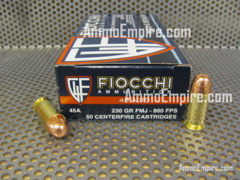 1000 Rounds of 45 Auto 230 Grain FMJ 45A500 Ammo by Fiocchi - Free Shipping