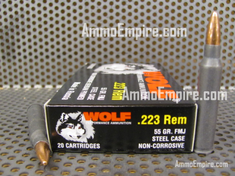 1000 Round Case of 223 Rem 55 Grain FMJ Steel Case Wolf Ammo Made By TCW - FREE SHIPPING