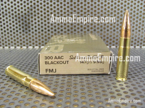 1000 Round Case of 300 AAC Blackout 147 Grain FMJ Sellier Bellot Ammo - SB300BLKB - FREE SHIPPPING