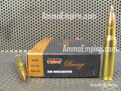 500 Round Case of 308 Win 147 Grain FMJ PMC Bronze Ammo - 308B - FREE SHIPPING