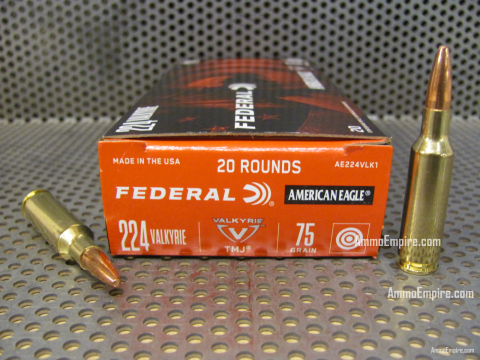200 Round Case of 224 Valkyrie 75 Grain TMJ Federal American Eagle Ammo - AE224VLK1 - Free Shipping