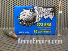 500 Round Case of 223 Rem Silver Bear 62 Grain Hollow Point